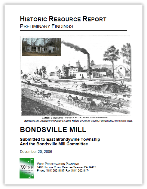 Historic Resources Report Cover