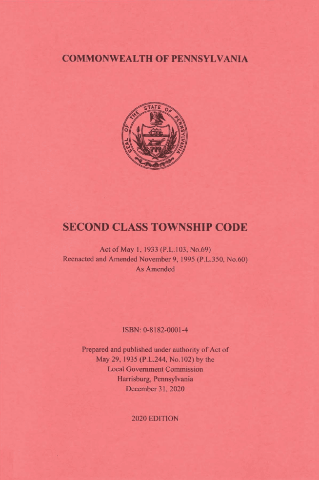 20171104 Township Code Cover